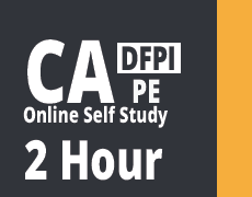California DFPI 2 Hour Online Pre-licensing Education Course NMLS Approval Number 10950